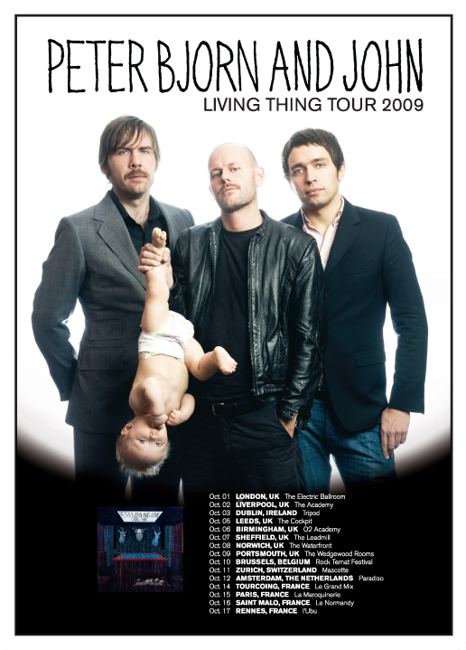 Peter Bjorn and John tour poster 09